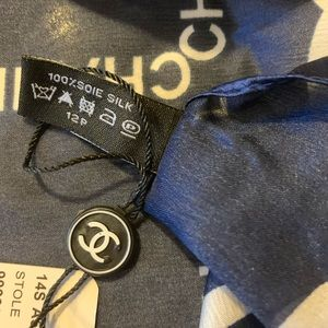 CHANEL Accessories - Auth 💯 Chanel silk scarf oversized shawl
